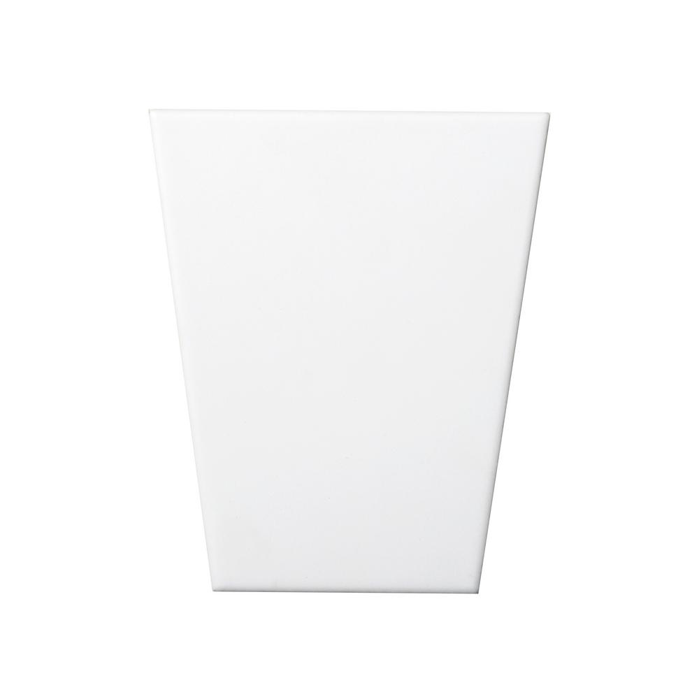 Code White Matte 4.92 in. x 5.91 in. Ceramic Wall Tile
