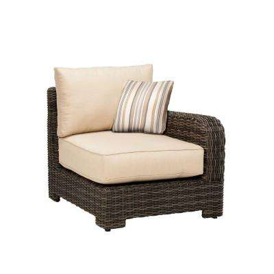 Northshore Right Arm Patio Sectional Chair with Harvest Cushion and Terrace Lane Throw Pillow -- CUSTOM