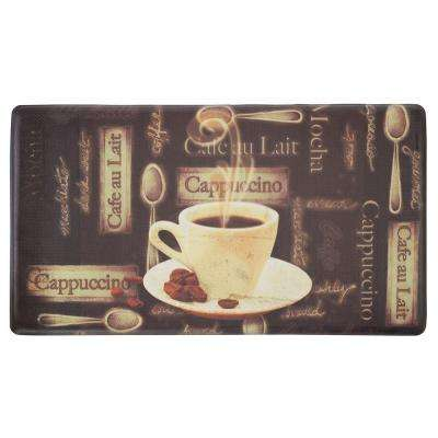 Cafe Au Lait 20 in. x 32 in. Extra Thick Premium Anti-Fatigue Kitchen Mat
