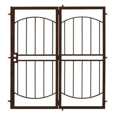 72 in. x 80 in. Arcada Copper Projection Mount Outswing Steel Patio Security Door with No Screen