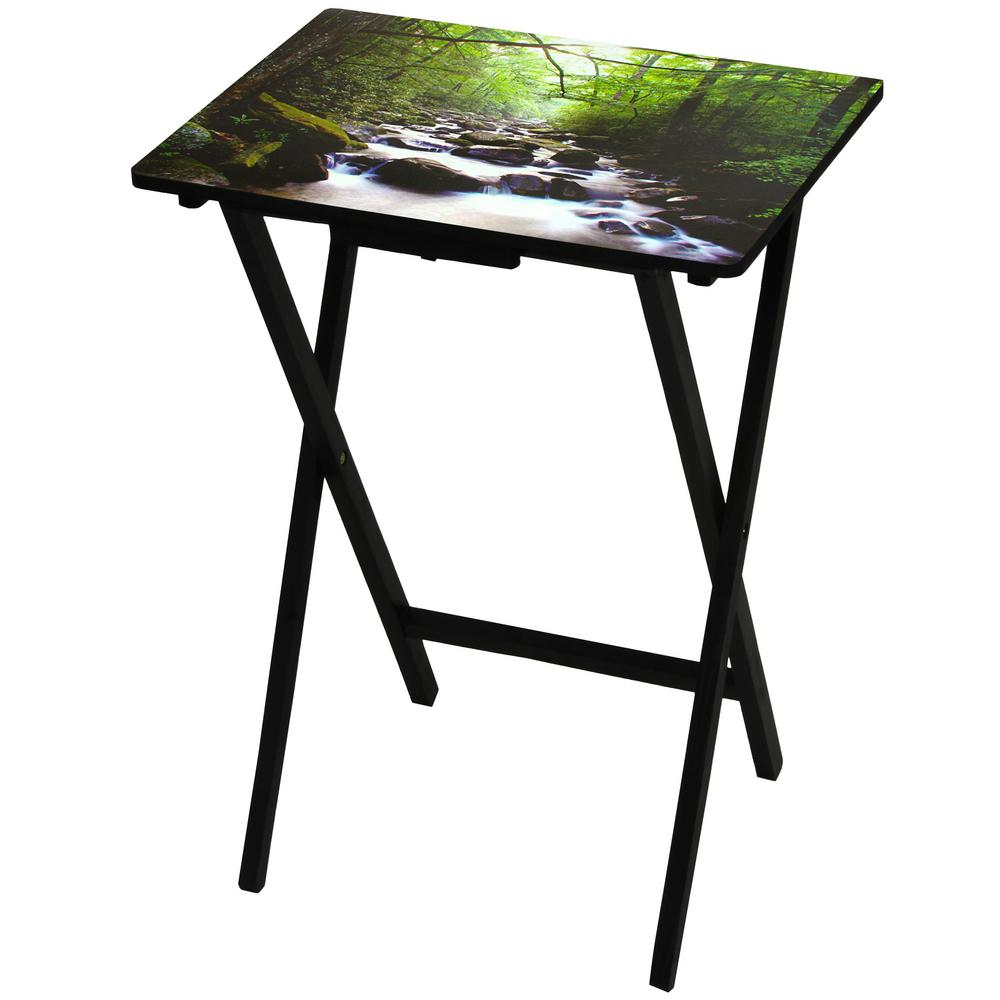Oriental Furniture Oriental Furniture 19 In. X 13.75 In. River Of Life TV  Tray