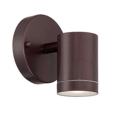1-Light Architectural Bronze Outdoor LED Wall Sconce