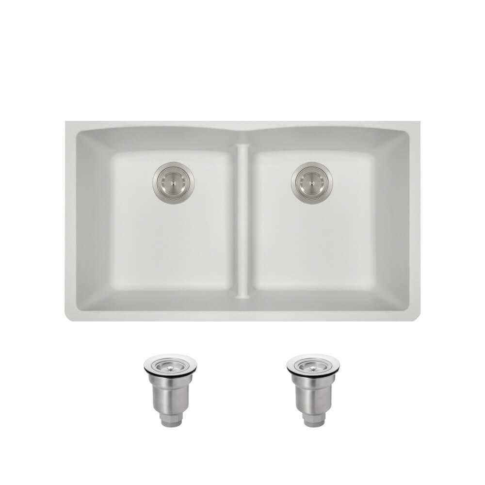Mr Direct All In One Undermount Kitchen Sink Composite