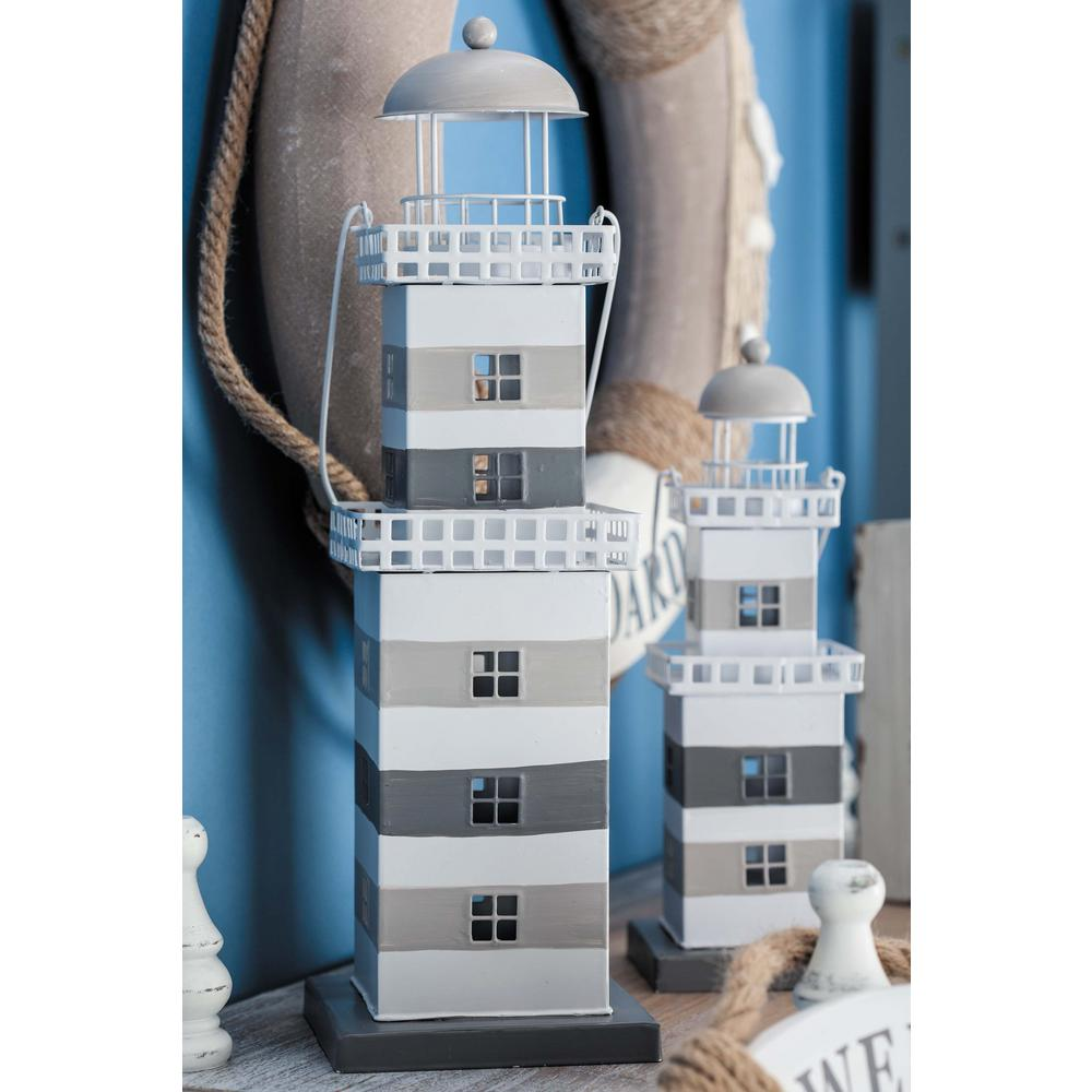 5 in. x 16 in. Coastal Living Metal Lighthouse Lantern