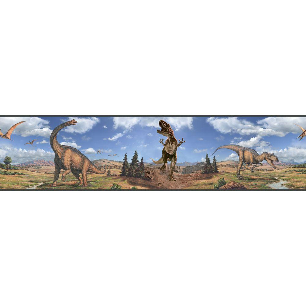 Dinosaurs Peel and Stick Wallpaper Border
