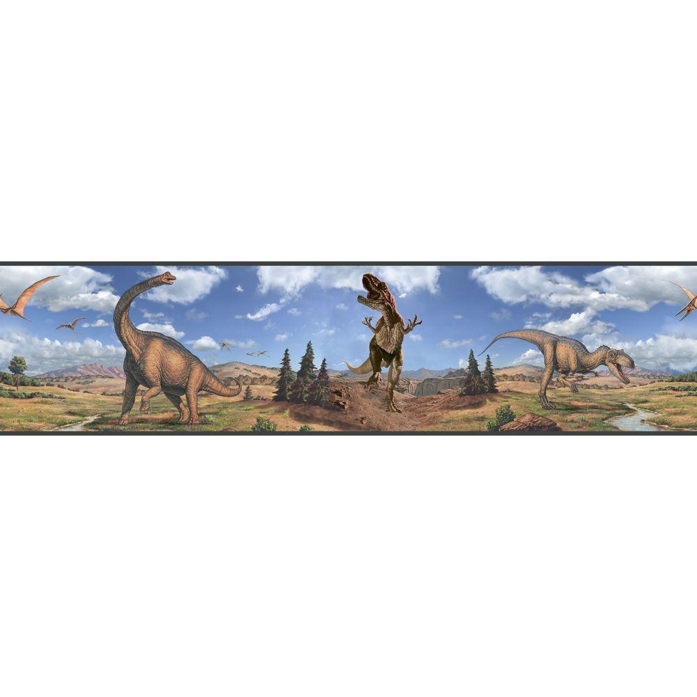 Dinosaurs Peel and Stick Wallpaper Border