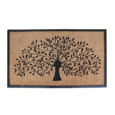 A1HC First Impression Hand-Crafted Shredding Tree 30 in. x 47 in. Coir Double Door Mat