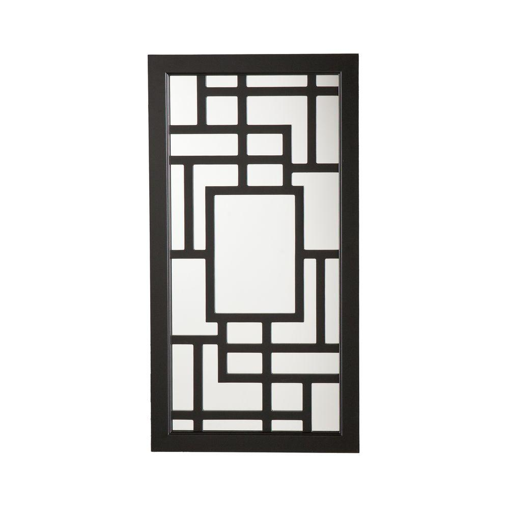Southern Enterprises 32.25 in. x 17 in. Black Jewelry Mirror-DISCONTINUED