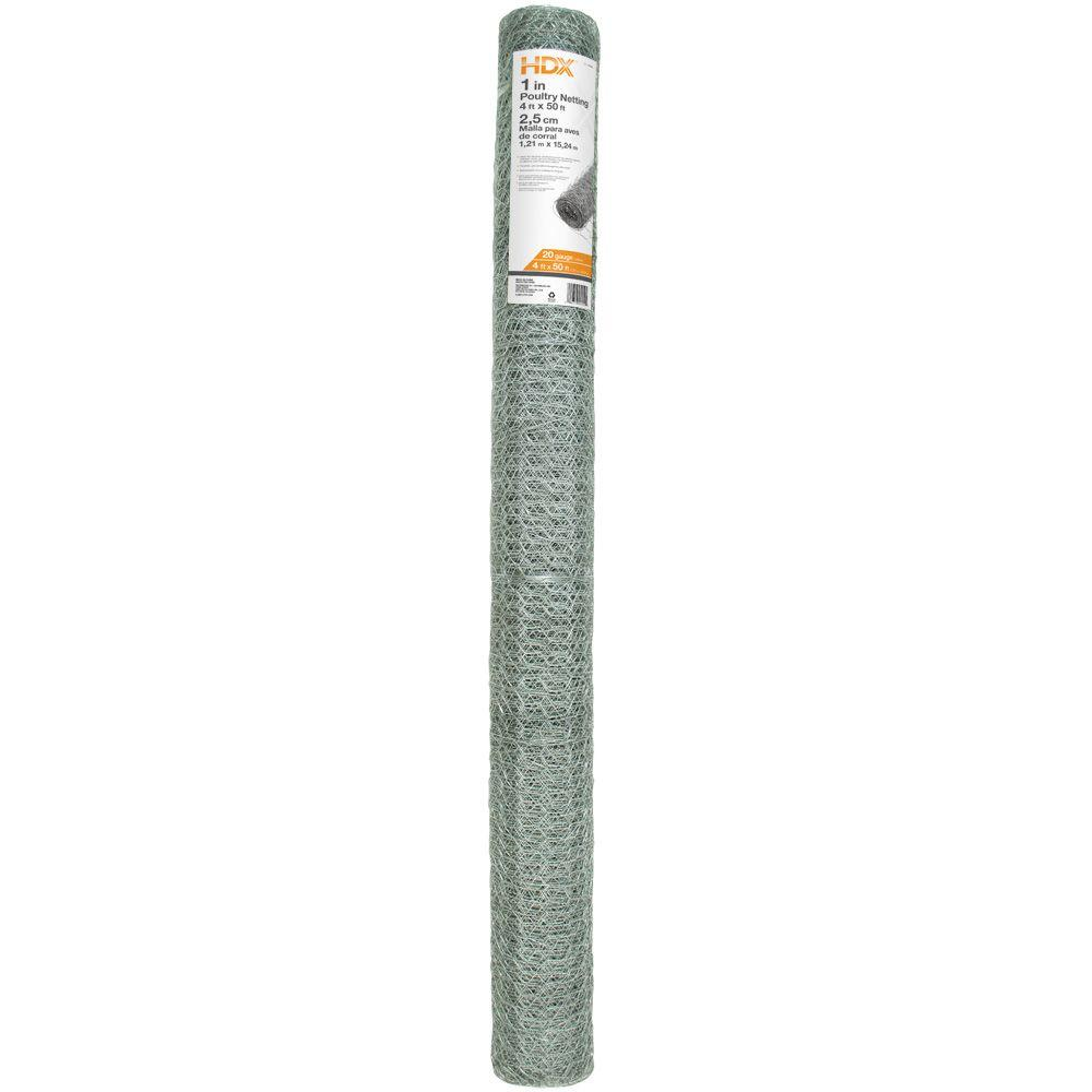 HDX 1 in. x 4 ft. x 50 ft. Poultry Netting
