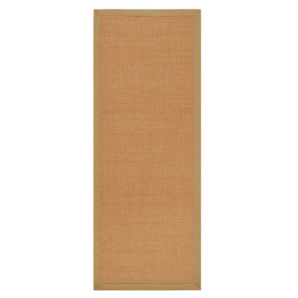 Home Decorators Collection Freeport Sisal Honey and Khaki 2 ft. 6 in. x 14 ft. Rug Runner