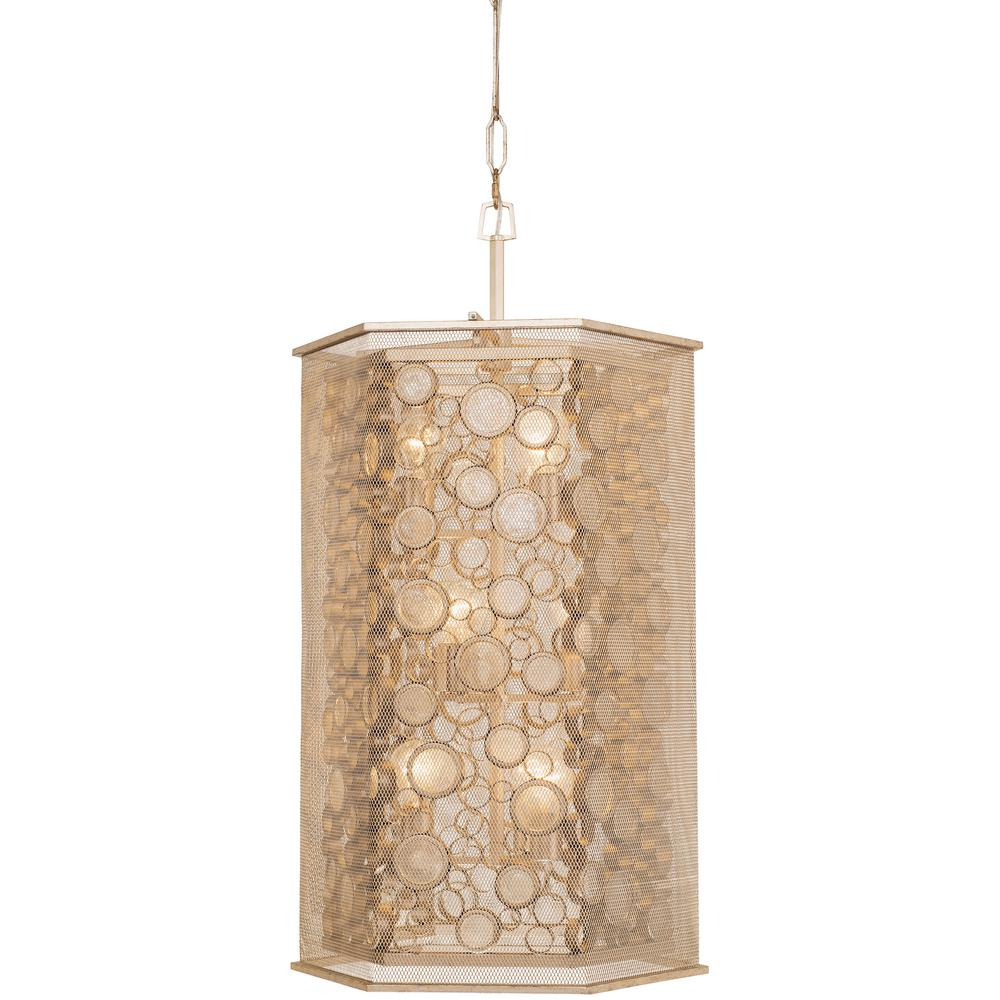 Varaluz Fascination 9 Light Zen Gold With Recycled