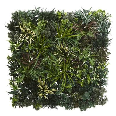 3 ft. x 3 ft. Indoor/Outdoor Green and Fern Artificial Living Wall UV Resist