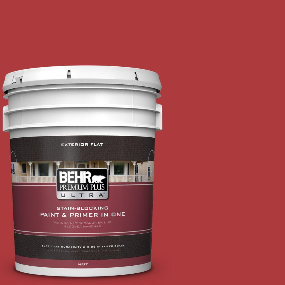 BEHR Premium Plus Ultra Home Decorators Collection 5-gal. #HDC-WR14-10 Winter Poinsettia Flat Exterior Paint