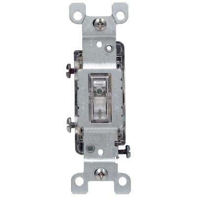15 Amp Illuminated Toggle Switch, Clear