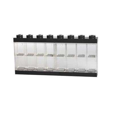 Minifigure Display Case (8) 14.90 in. D x 1.91 in. W x 7.22 in. H in Black