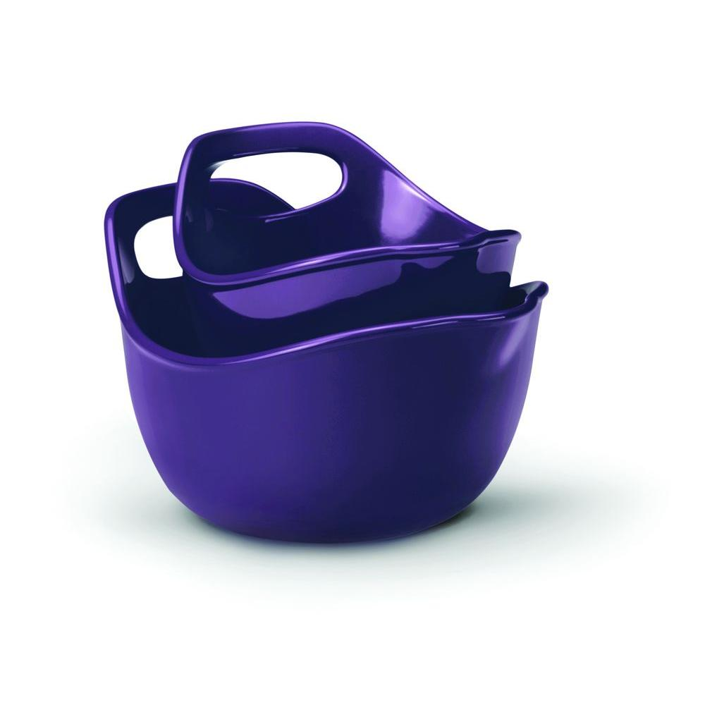 Rachael Ray 2-Piece Mixing Bowl Set in Purple