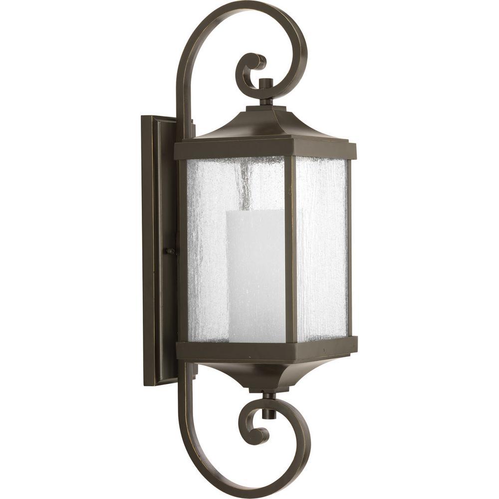 Devereux Collection 1-Light Medium Antique Bronze Outdoor Wall Lantern