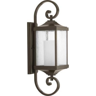 Devereux Collection 1-Light Antique Bronze 26 in. Outdoor Wall Lantern Sconce
