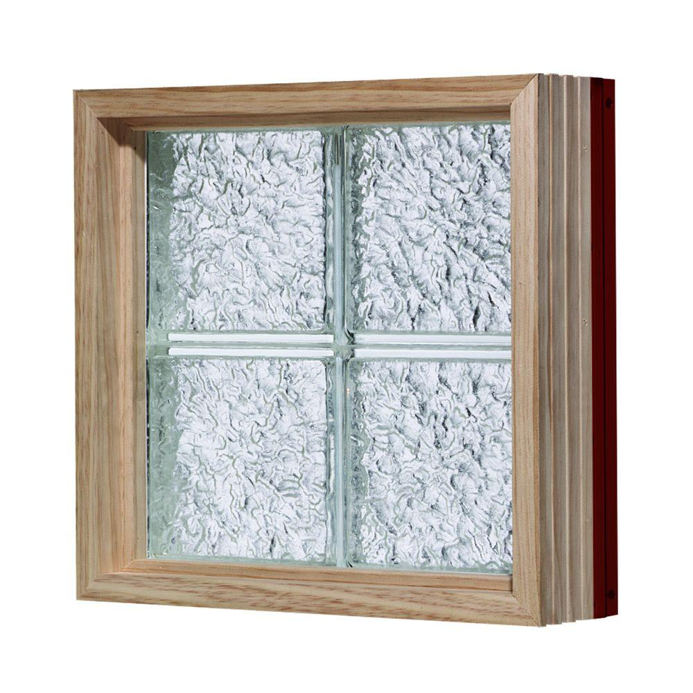 Pittsburgh Corning 32 in. x 64 in. LightWise IceScapes Pattern Aluminum-Clad Glass Block Window