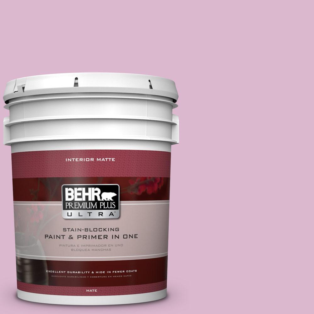 5 gal. #M120-3 Pink Wink Matte Interior Paint