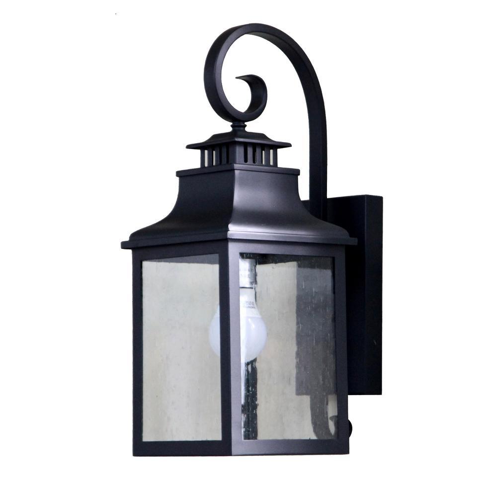 Morgan 1-Light Black Outdoor Wall Lantern Sconce