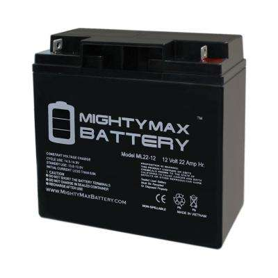 12-Volt 22 Ah Sealed Lead Acid (SLA) Rechargeable Battery