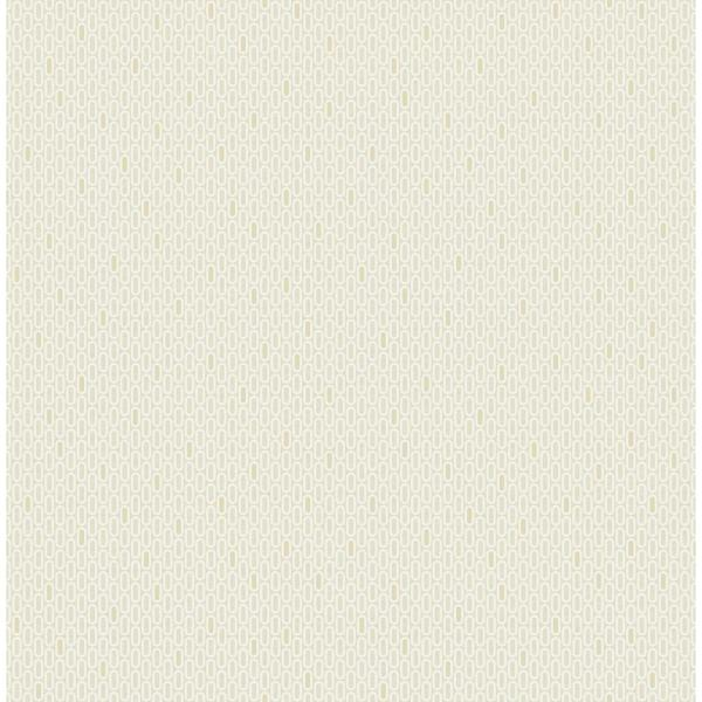 Seabrook Designs Fonzie Metallic Gold and Tan Oval Wallpaper