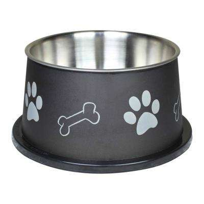 Paw Bone Print Stainless Steel Pet Fusion Spaniel Bowl