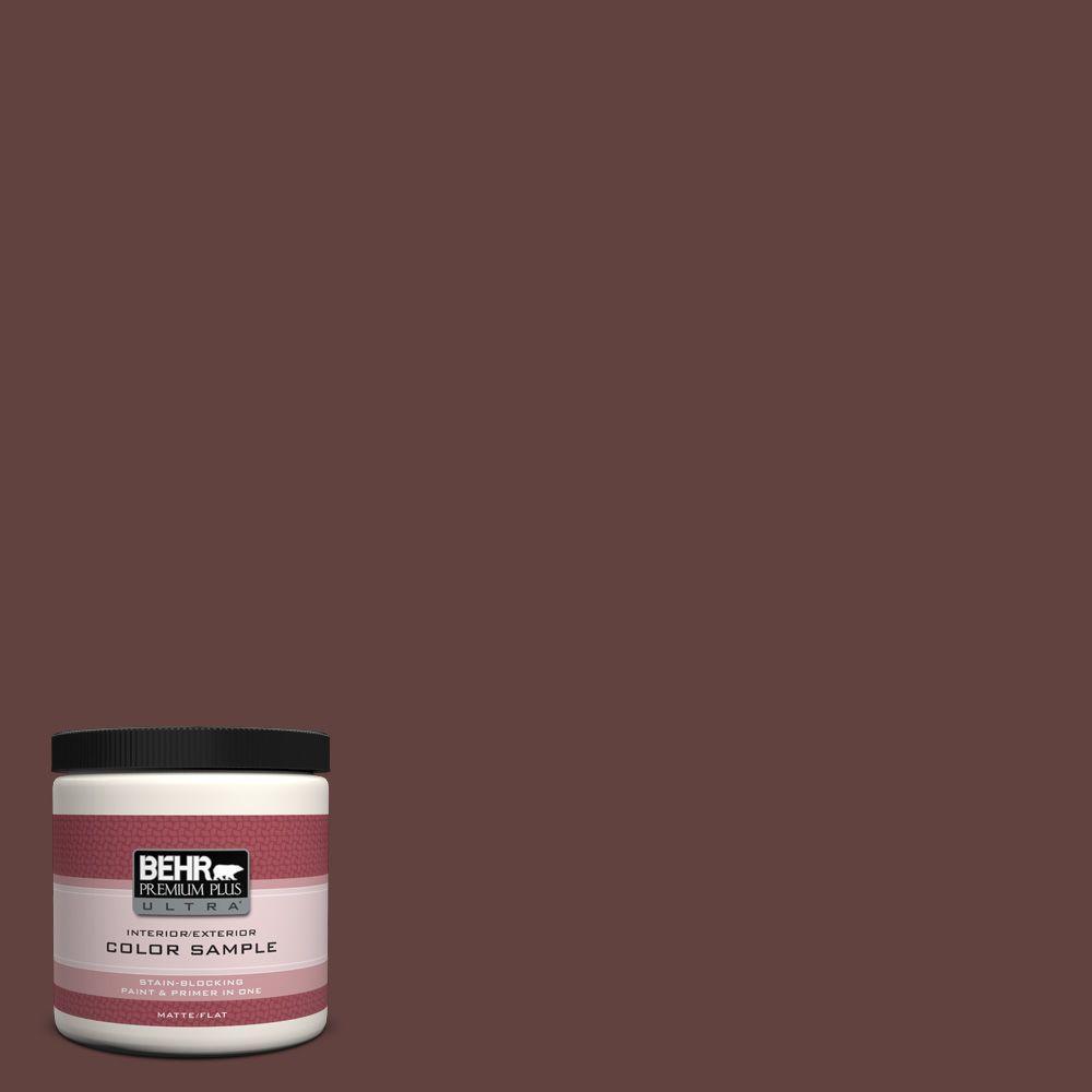BEHR Premium Plus Ultra 8 oz. #PMD-62 Black Plum Interior/Exterior Paint Sample