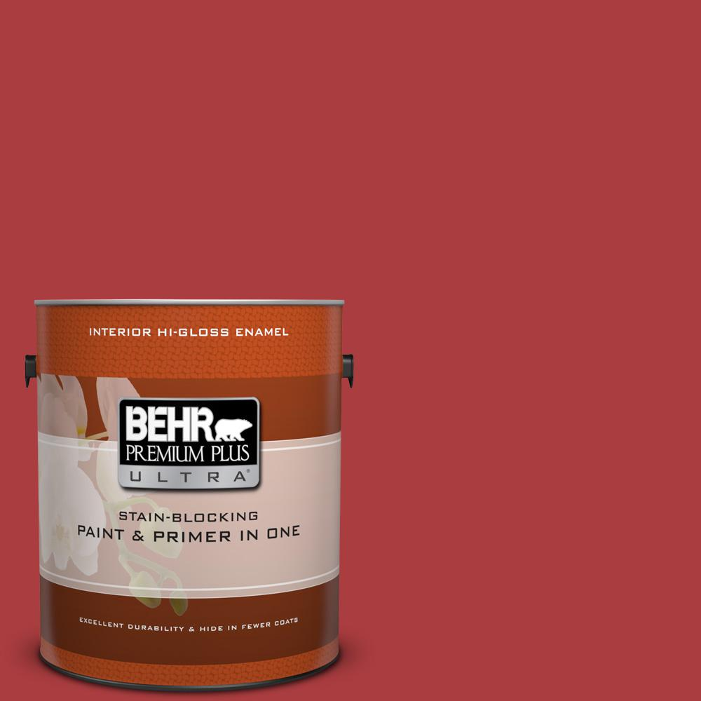 1 gal. #160B-7 Daredevil Hi-Gloss Enamel Interior Paint