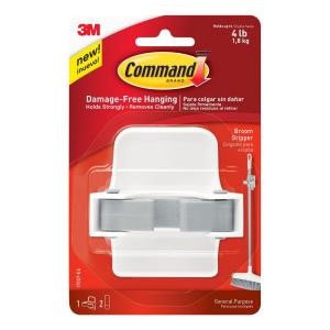 Command Broom Gripper (1 Gripper) (2 Strips) by Command