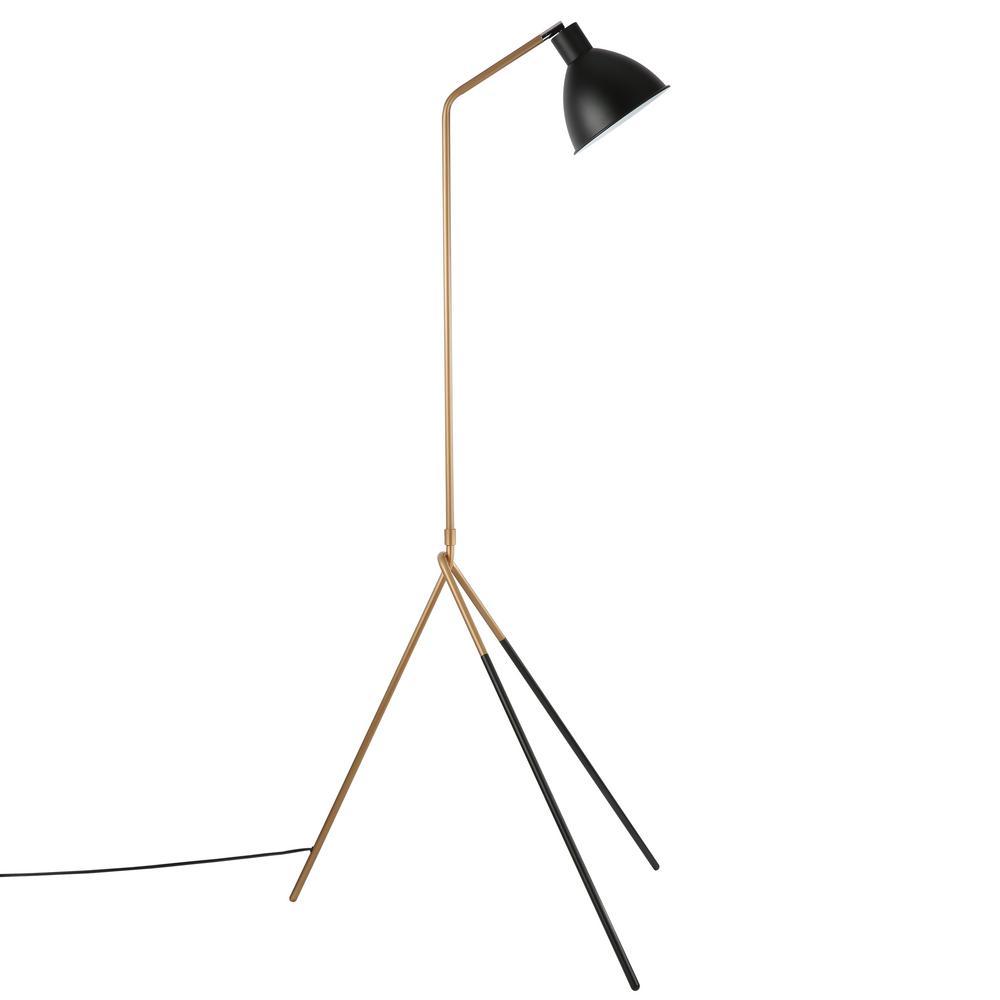 Mastise Black/Gold Floor Lamp