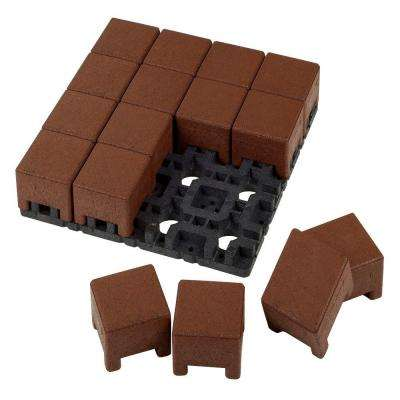 4 in. x 4 in. Redwood Standard Composite Paver Grid System (16 Pavers and 1 Grid)