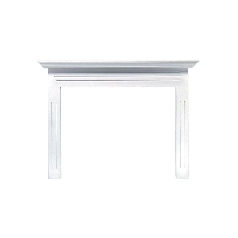the newport 65 in x 51 in mdf white full surround mantel 510 48