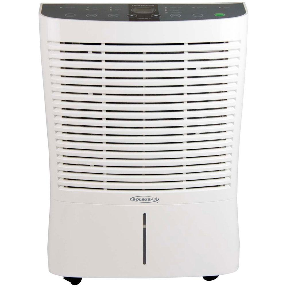 Soleus Air 95 Pint Dehumidifier With Internal Pump In White
