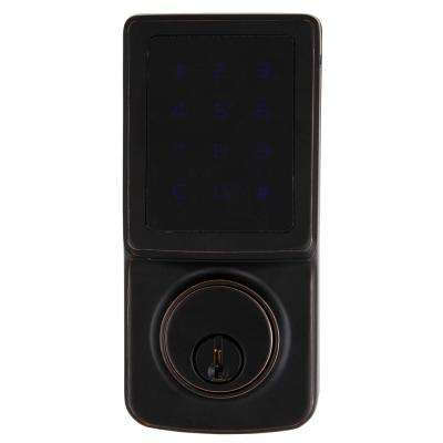 Aged Bronze Single Cylinder Electronic Touchscreen Deadbolt