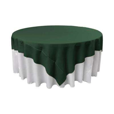 72 in. x 72 in. Hunter Green Polyester Poplin Square Tablecloth