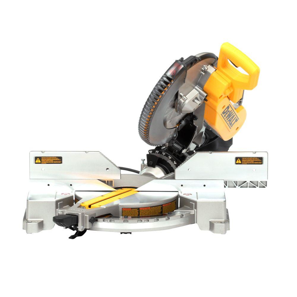 dewalt 15 amp 12 in double bevel compound miter saw dw716. Black Bedroom Furniture Sets. Home Design Ideas