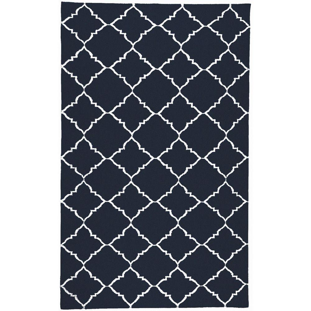 Dorado Dark Blue 8 ft. x 11 ft. Flatweave Area Rug