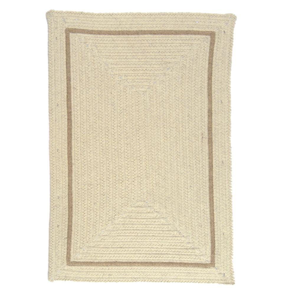 Natural Cream (Ivory) 2 ft. x 3 ft. Braided Accent Rug