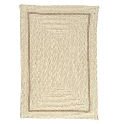 Natural Cream 7 ft. x 9 ft. Rectangle Braided Area Rug