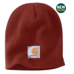 Carhartt Men s OFA Fired Brick Acrylic Knit Hat-A205-225 - The Home Depot 9a432f60114