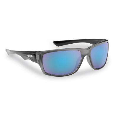 Roller Polarized Sunglasses Gunmetal Frame with Smoke in Blue Mirror Lens