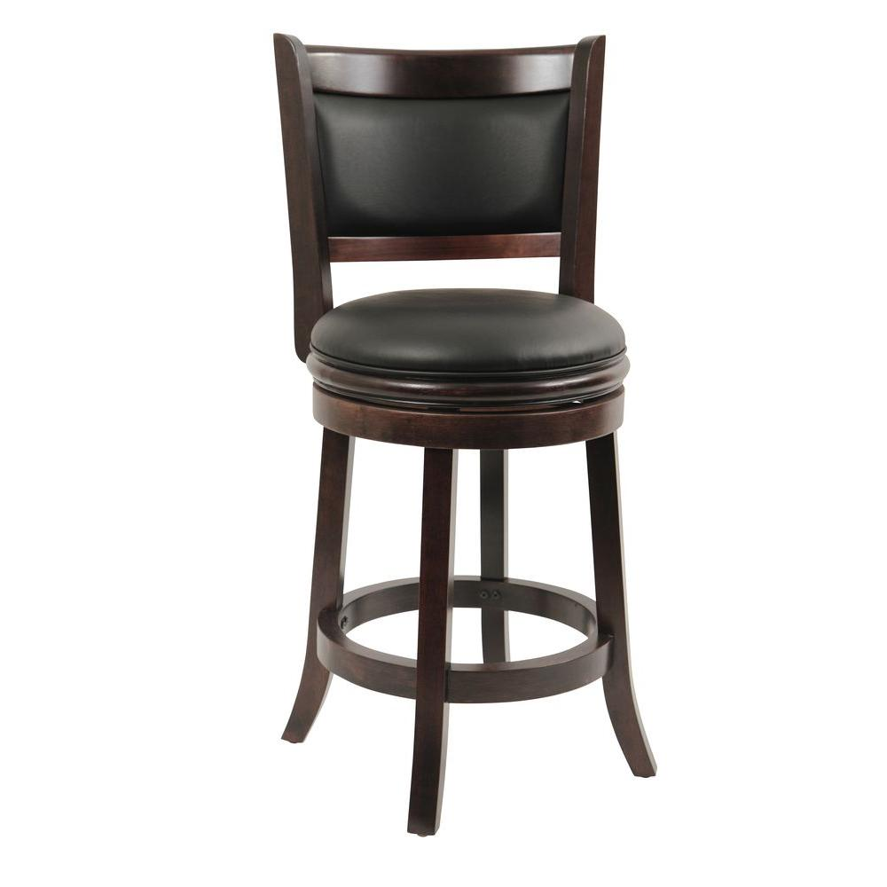 Boraam Augusta 24 In Cappuccino Swivel Cushioned Bar Stool 48824