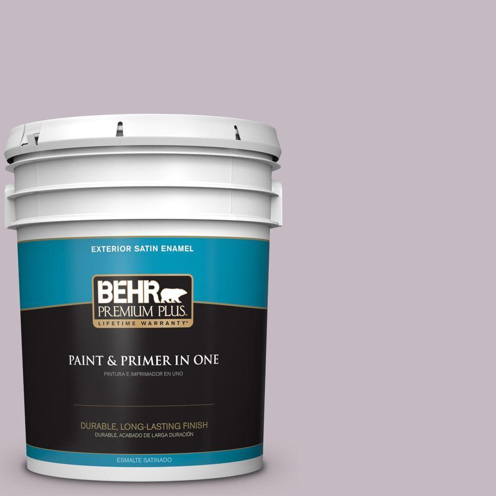 BEHR Premium Plus 5-gal. #N110-2 Mulberry Stain Satin Enamel Exterior Paint