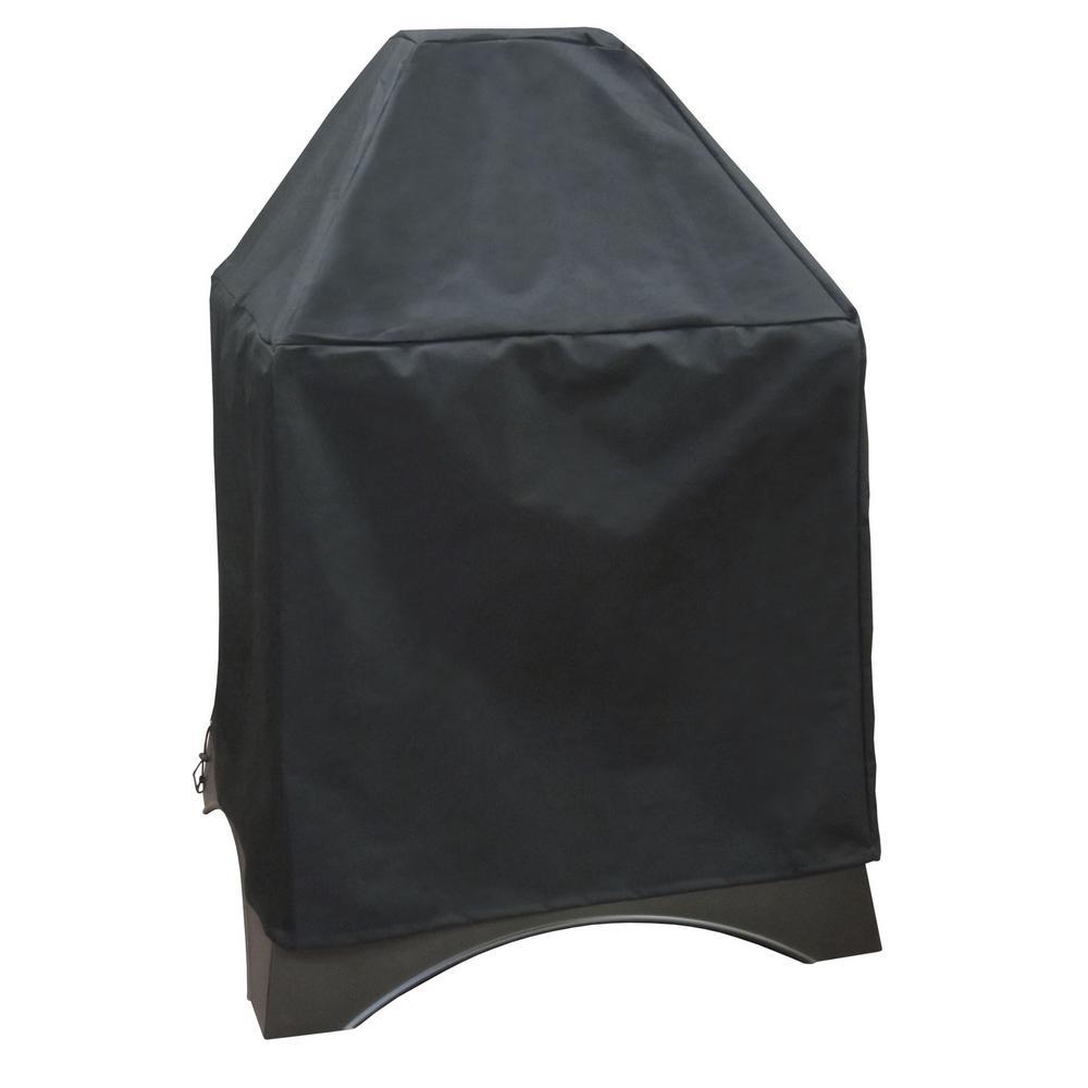 Grandezza 32.5 in. x 32.5 in. x 45.5 in. Black Firepit Cover