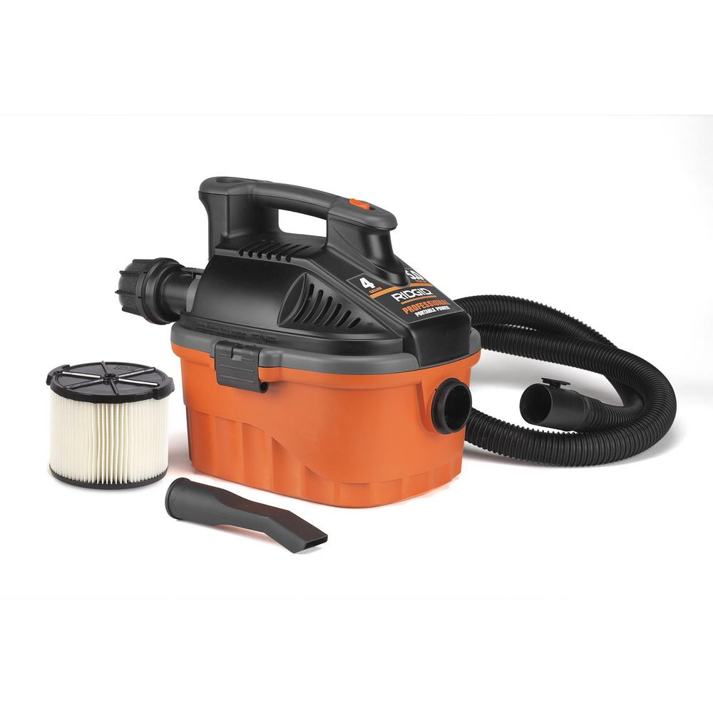 Ridgid 4 Gal Wet Dry Vac 5hp Portable Shop Garage Shed Job