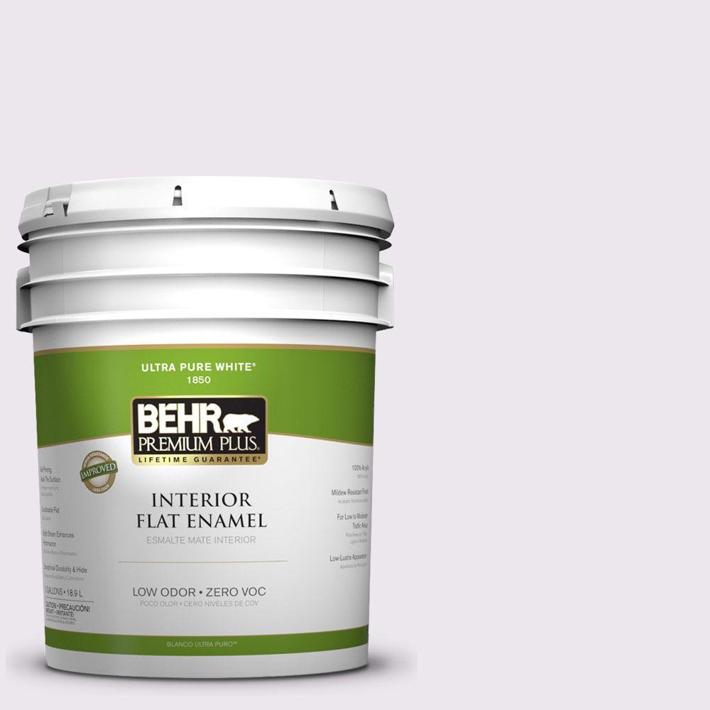BEHR Premium Plus 5-gal. #PPL-22 Dried Lavender Zero VOC Flat Enamel Interior Paint-DISCONTINUED