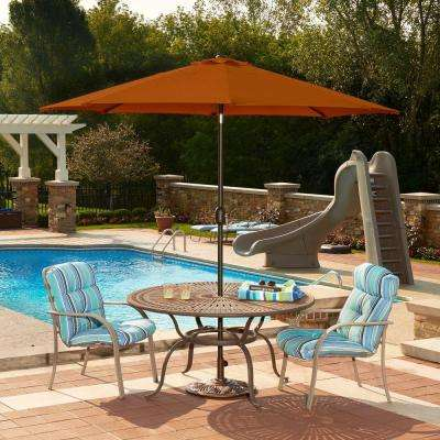 Mirage 9 ft. Octagonal Market Umbrella with Auto-Tilt in Terra Cotta Olefin