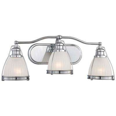 3-Light Chrome Bath Vanity Light